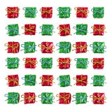 礼品绿色红色 库存图片