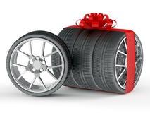 礼品轮子 向量例证