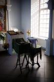 洗礼在教会里 免版税图库摄影