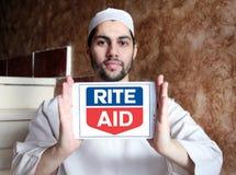 礼拜式援助药房商标 库存照片