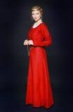 礼服中世纪妇女 库存照片