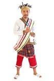 礼服传统的巴布亚 免版税库存照片