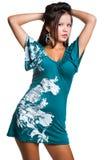 礼服佩带的妇女 免版税库存图片
