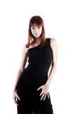 礼服典雅的纵向性感的妇女 免版税库存图片