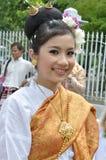 礼服夫人泰国传统 库存照片