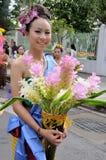 礼服夫人泰国传统 图库摄影