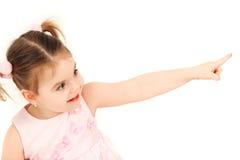 礼服女孩一点粉红色 免版税库存图片