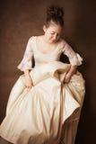 礼服女孩俏丽的婚礼 免版税库存照片