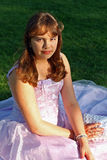 礼服女孩少年当事人的正式舞会 免版税库存图片