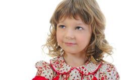 礼服女孩快乐的粉红色 免版税图库摄影