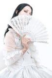 礼服女孩白色 免版税库存图片