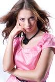 礼服女孩粉红色 免版税库存图片