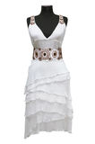 礼服女性白色 免版税库存照片