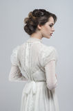 礼服性感的白人妇女 免版税图库摄影