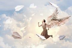 礼服的天使女孩 免版税图库摄影