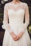 礼服的新娘 免版税库存图片