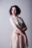 礼服的美丽的妇女 图库摄影