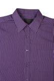 礼服细条纹布料的紫色衬衣 免版税库存照片