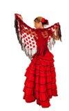 礼服西班牙夫人红色年轻人 库存照片