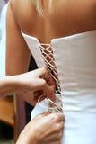 礼服贴合婚礼 库存图片