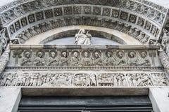 洗礼池圣乔瓦尼,比萨(细节) 库存图片