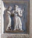 洗礼池装饰,大教堂在比萨 免版税库存照片
