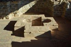 洗礼池- StPanteleimon修道院在奥赫里德 库存图片