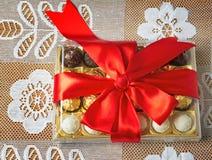 礼物为假日新年,圣诞节,复活节,生日, a 免版税库存图片