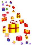 礼物和弓 免版税库存图片