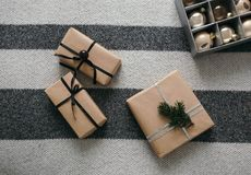 礼物新年和圣诞节 库存图片