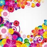礼物欢乐花卉设计背景 边界春天 库存图片