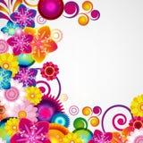 礼物欢乐花卉设计背景 边界春天 库存照片
