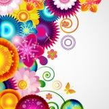 礼物欢乐花卉设计背景 边界春天 免版税库存照片