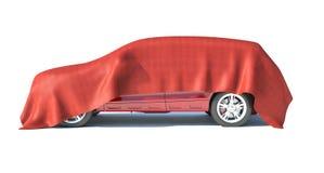 礼物汽车,白色背景 库存图片