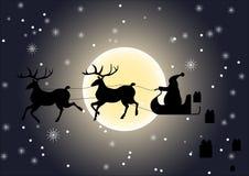 给礼物的圣诞老人 免版税库存图片