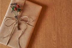 礼物的被包裹的书 免版税库存图片