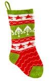 礼物的被编织的袜子 圣诞节储存 免版税库存照片