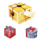 礼物盒例证 免版税库存图片
