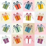 礼物盒减速火箭的背景 免版税库存照片