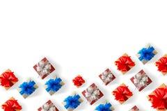 礼物盒圣诞节愉快的假日贺卡周年Chri 库存照片