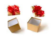 礼物盒圣诞节愉快的假日贺卡周年Chri 免版税库存图片