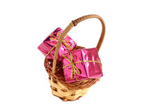 礼物盒圣诞节装饰 图库摄影