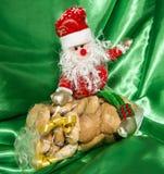 礼物盒意大利家庭做的饼干 库存照片