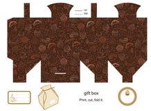 礼物盒模板 免版税图库摄影
