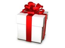 礼物盒白色 免版税库存照片