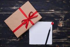 礼物盒的构成有一个地方的拷贝空间的 免版税库存图片