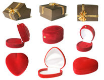 礼物盒集合 库存图片