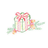礼物盒,礼物,剪影,传染媒介,例证 免版税库存照片