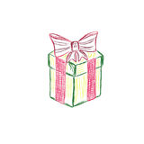 礼物盒,礼物,剪影,传染媒介,例证 库存图片