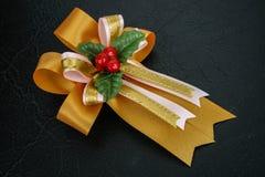 礼物装饰的丝带我 免版税库存照片